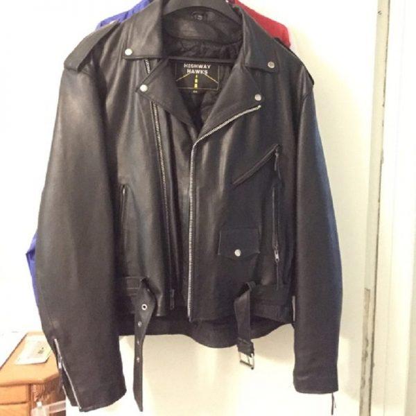 Highway Hawks Riding Leather Jacket