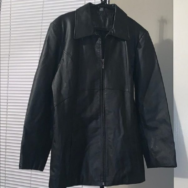 Jacqueline Ferrar Beautiful Black Leather Jacket