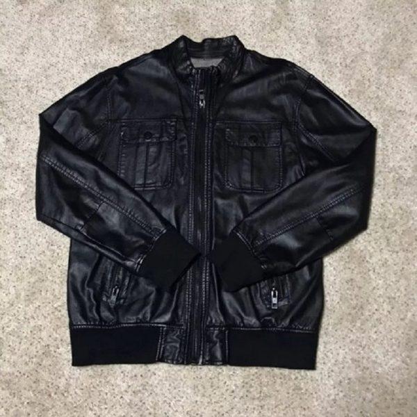 Men's Black Legendary Goods Leather Jacket