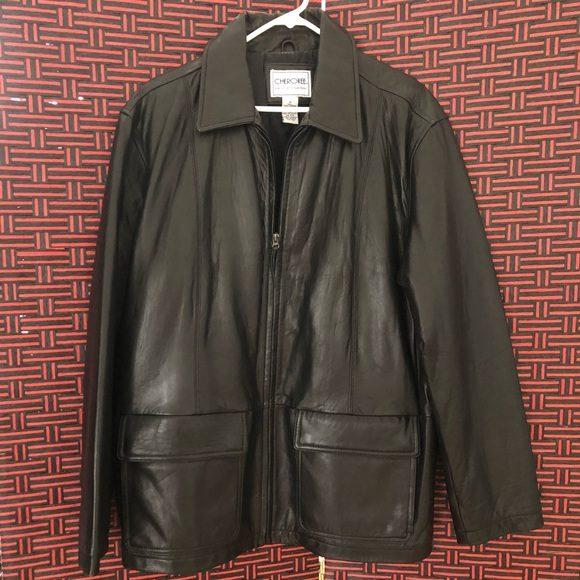 Men's Fashion Cherokee Leather Jacket