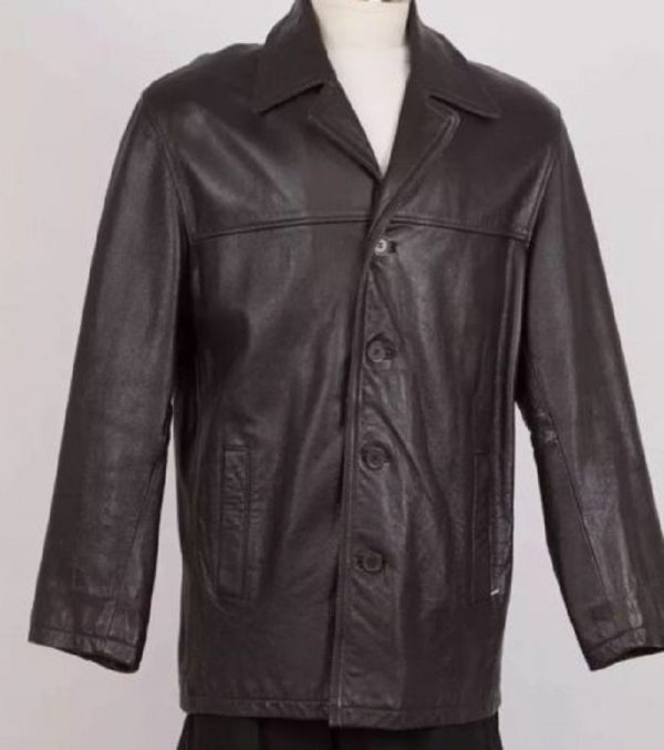 Men's Jim & Mary Lou Leather Car Coat