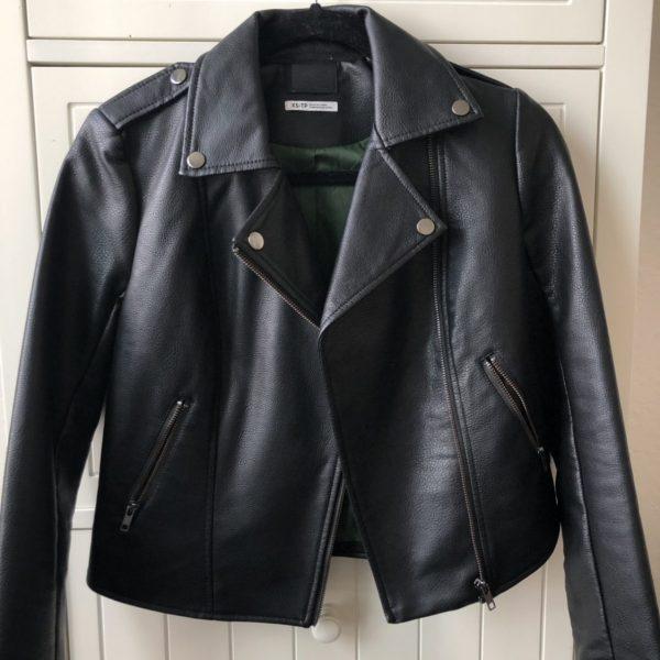 Mens BDG Black Leather Jacket