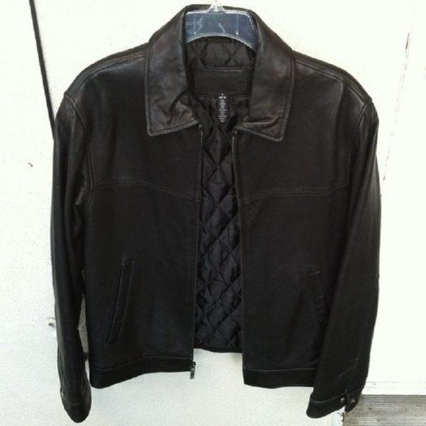 Mens Black Cambridge Classics Leather Jacket