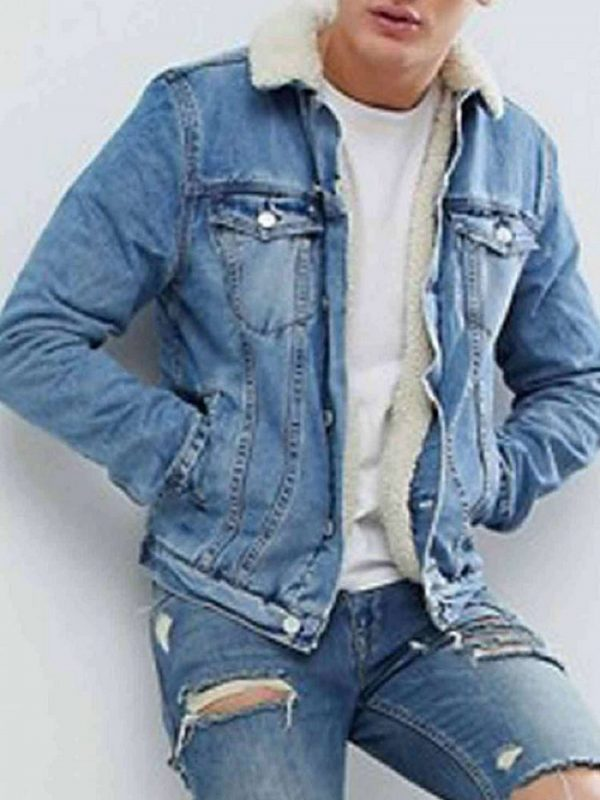 Mens Erik Killmonger Blue Jean Jacket