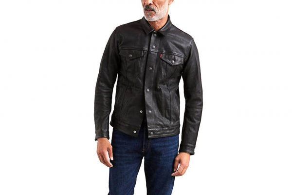Mens Levis Black Leather Jackets