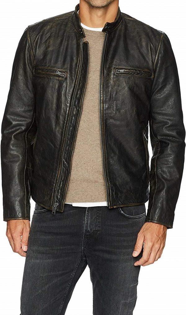 Men's Lucky Brand Black Leather Jacket