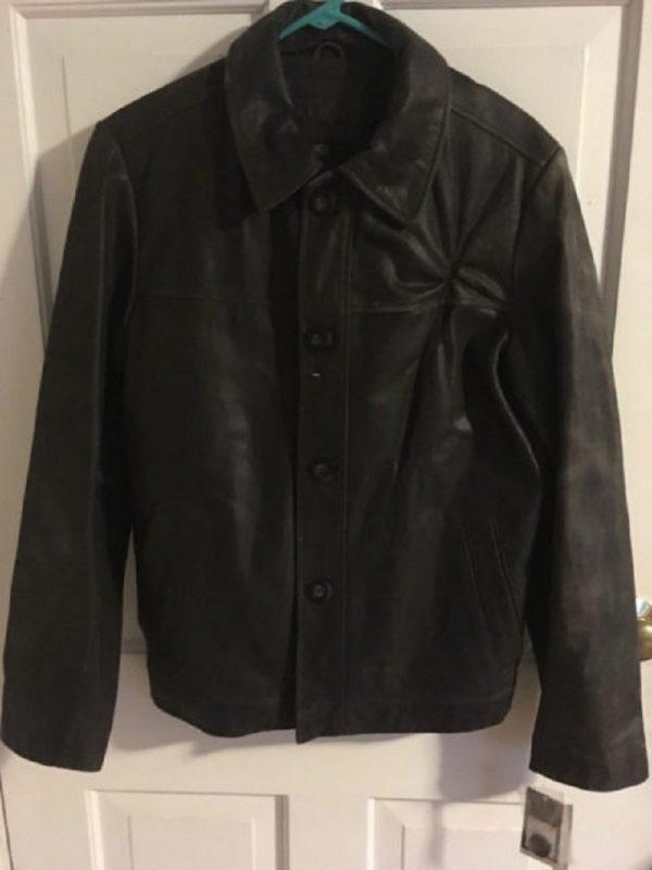 Men's MeroMen's Merona Black Leather Jacketna Black Leather Jacket