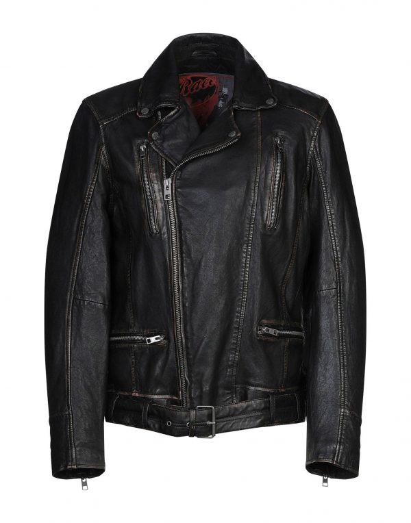 Mens Oakwood Biker Leather Jacket