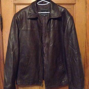 Mens Preswick & Moore Brown Leather Jacket