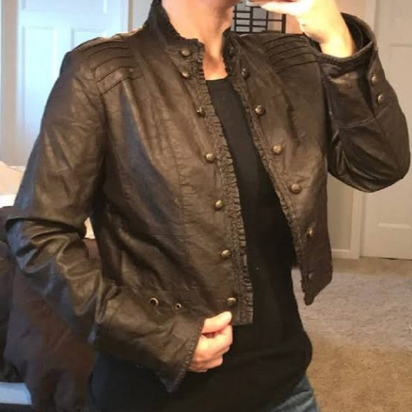Mens Revue Real Leather Jacket