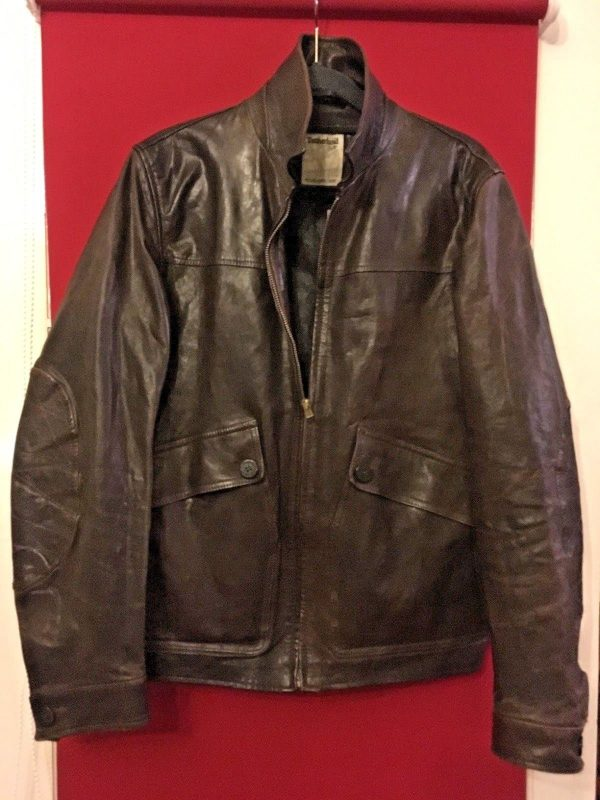 Mens Timberland Brown Leather Jacket