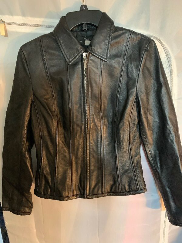 Moda International Black Motorcycle Leather Jacket