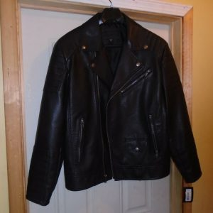 Murano Black Imitation Motorcycle Leather Jacket