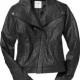 Old Navy Black 100% Leather Jacket
