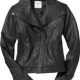 Old Navy Black 100% Leather Jacket