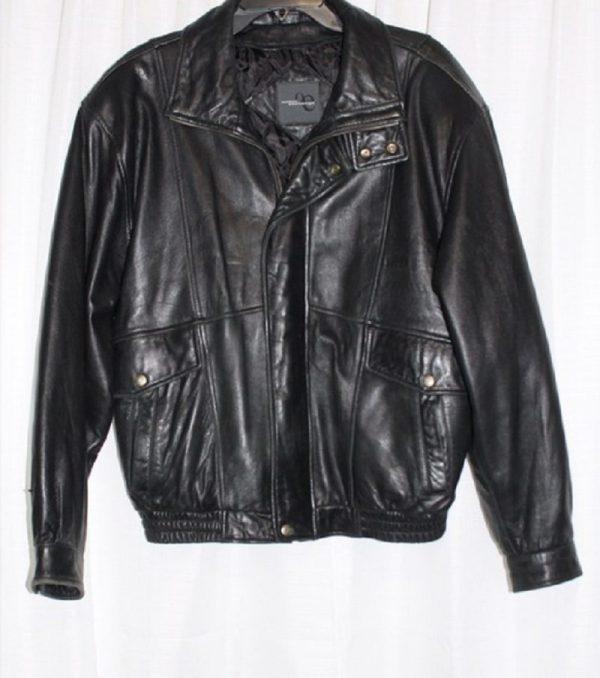 Outdoor Exchange Black Leather Jacket