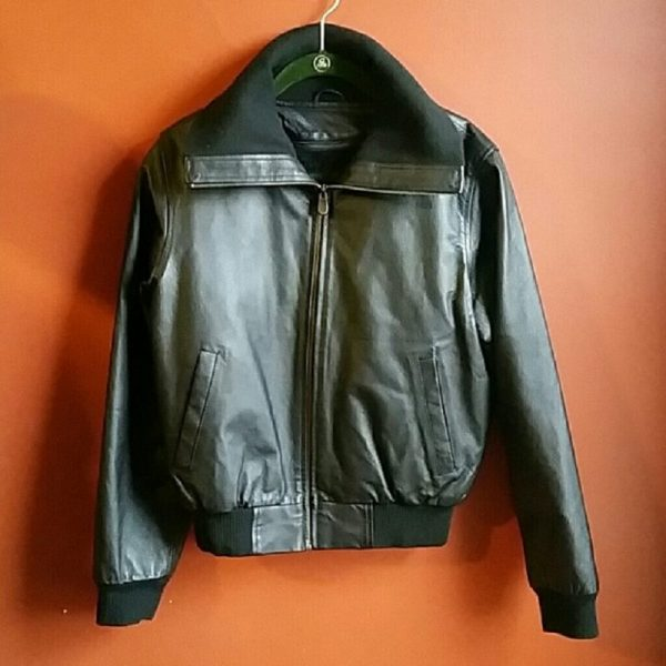Pelle Moda Black Bomber Leather Jacket