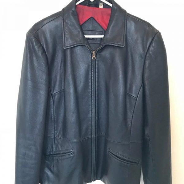 Preston York Black Leather Jacket