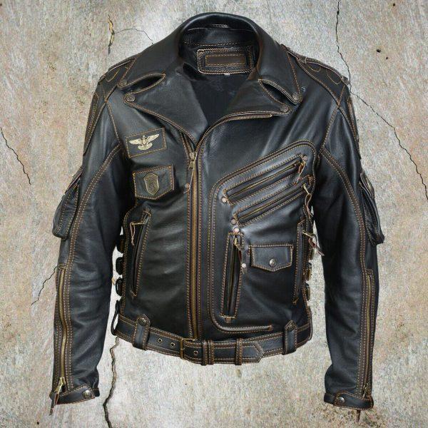Road Wear By Buffalo Black Leather Jacket
