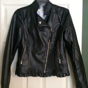 Steve Madden Black Faux Leather Jacket