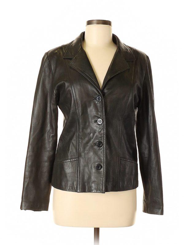 Vakko Sport Black Leather Jacket