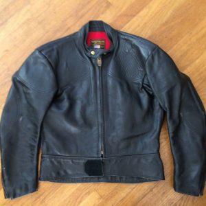 Vanson Black Cafe Steer Hide Motorcycle Leather Jacket