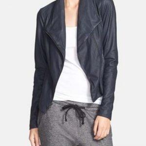 Vince Paper Scuba Leather Jacket