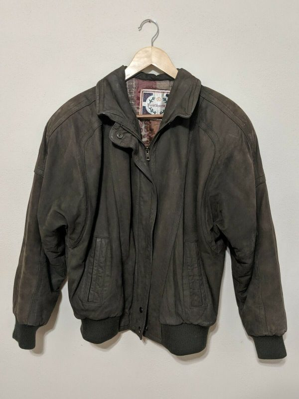 Vintage Paris Sport Club Genuine Bomber Leather Jacket