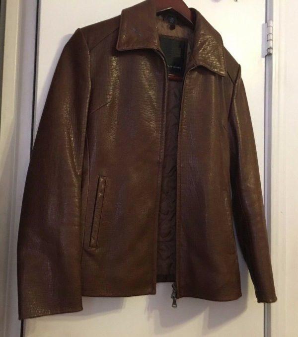 Women R&O Brand Snake&lizard Pattern Leather Jacket