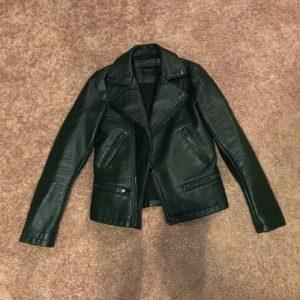 Womens Dark Green Leather Jacket