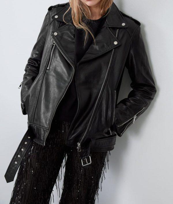 Womens New Oversizeds Leather Jacket