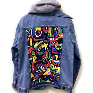 Abstract Art Denim Jacket
