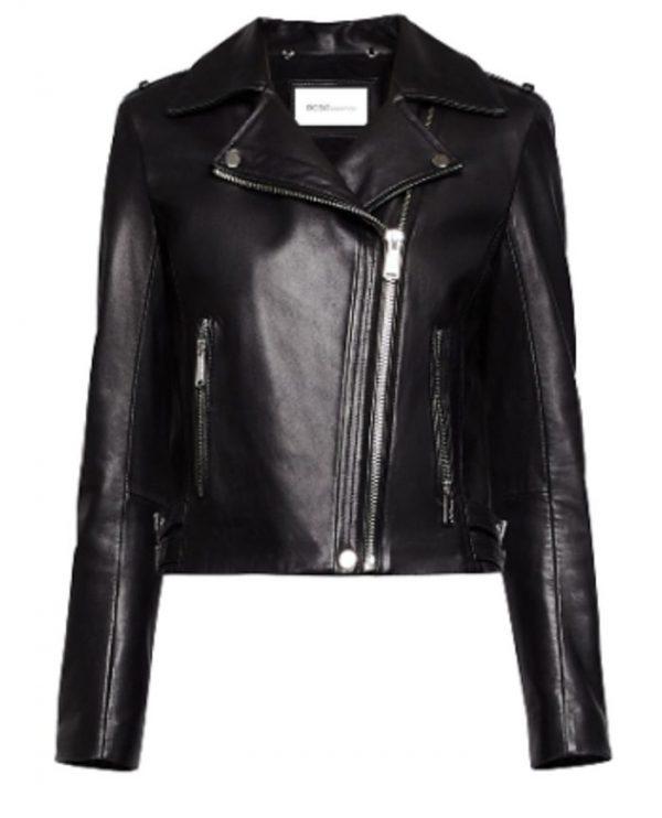 BCBgeneration Womens Black Winter Short Motorcycle Jacket