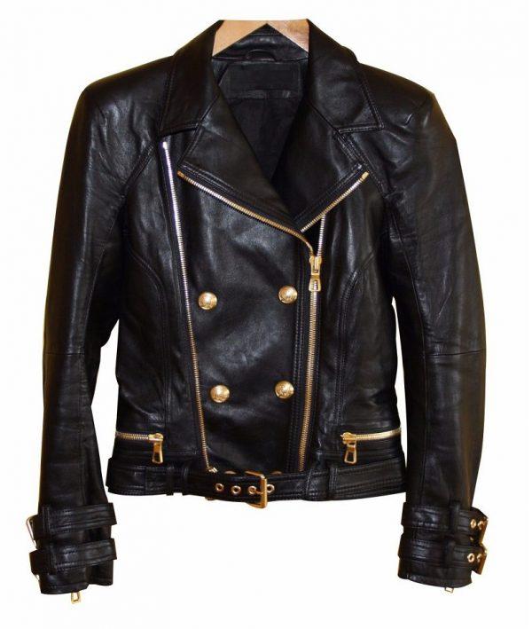 Balmain Leather Jacket H&m