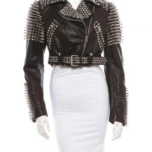 Burberry Studded Leather Jacket