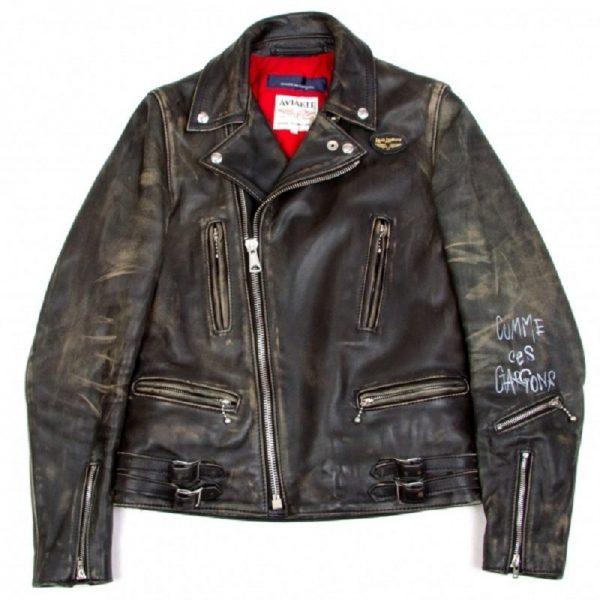 Comme De Garcons Leather Jacket