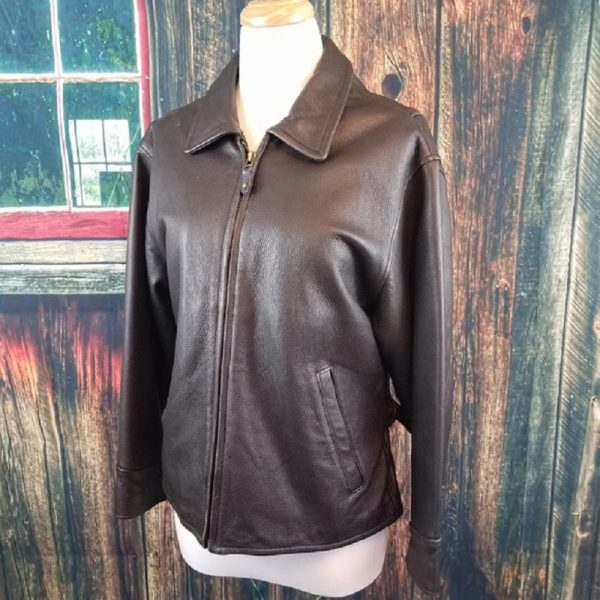 Eddie Bauer Leather Jacket Womens