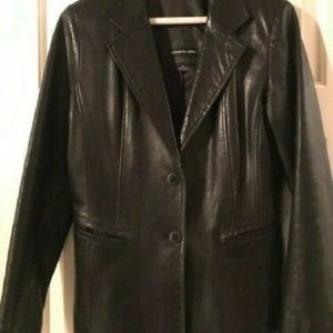 Elements By Vakko Leather Jacket