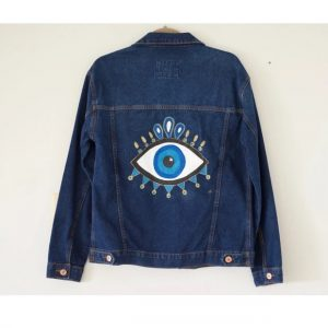 Eye Painted In Denim Jacket