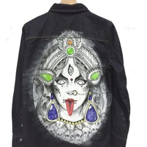 Hand Painted Denim Wash Vintage Jacket