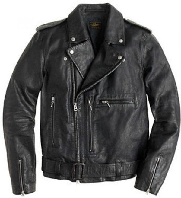 J Crew Leather Jacket Mens