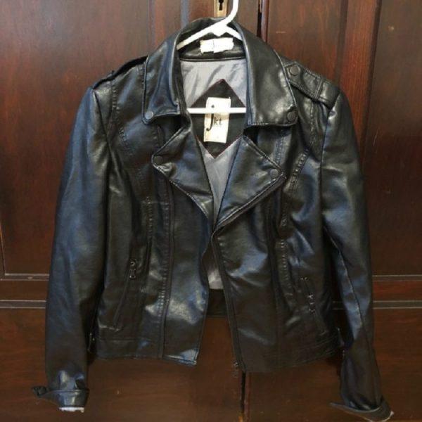 Jkt Vegans Leather Jacket