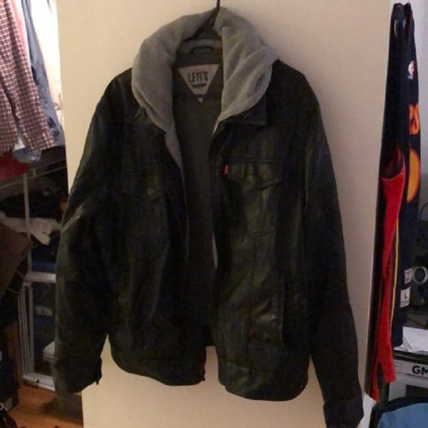 Levis Leather Jacket With Hood