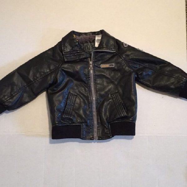 Little Boys Leather Jacket
