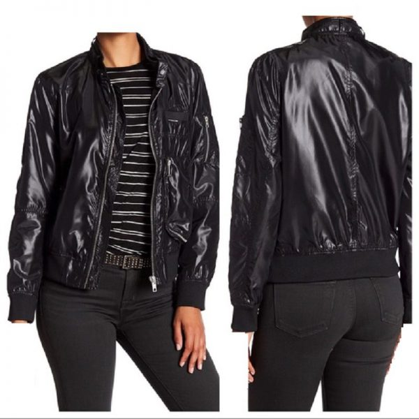 Members Only Leather Jacket Womens