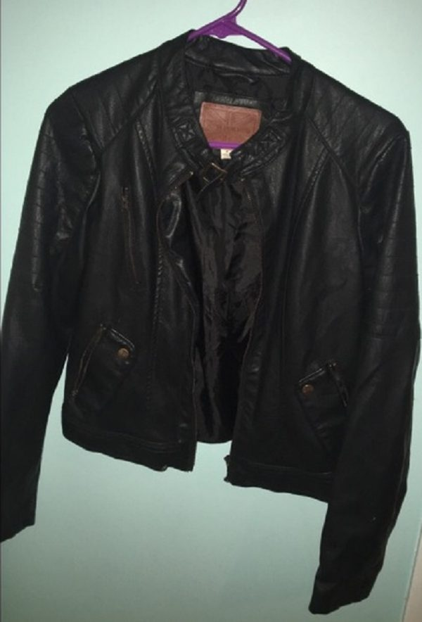 Miss London Black Faux Leather Jacket