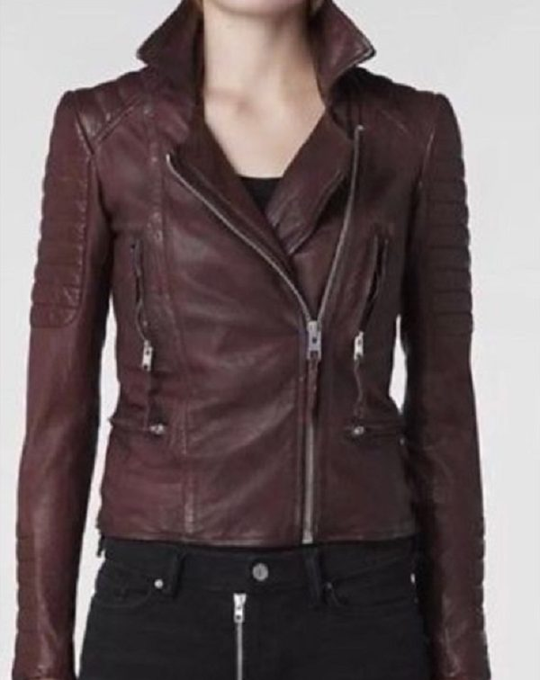 Oxblood Leather Jacket Womens