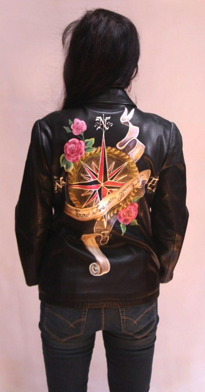 Painteds Leather Jacket