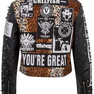 Punk Leather Jacket Womens