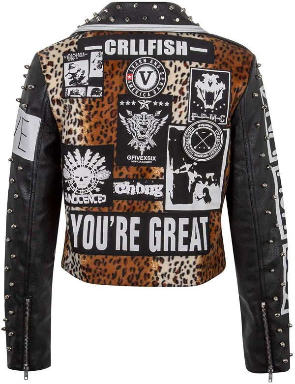 Punk Leather Jacket Womens